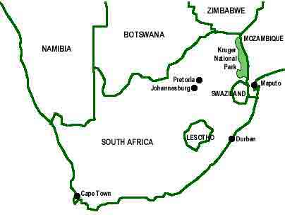 Location of Swaziland within SA (click to enlarge)