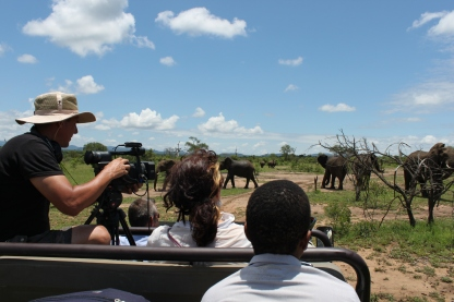 Filming Rhinos & Elephants at Mkhaya