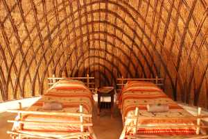 Inside a Swazi Beehive Hut at Mlilwane Wildlife Sanctuary
