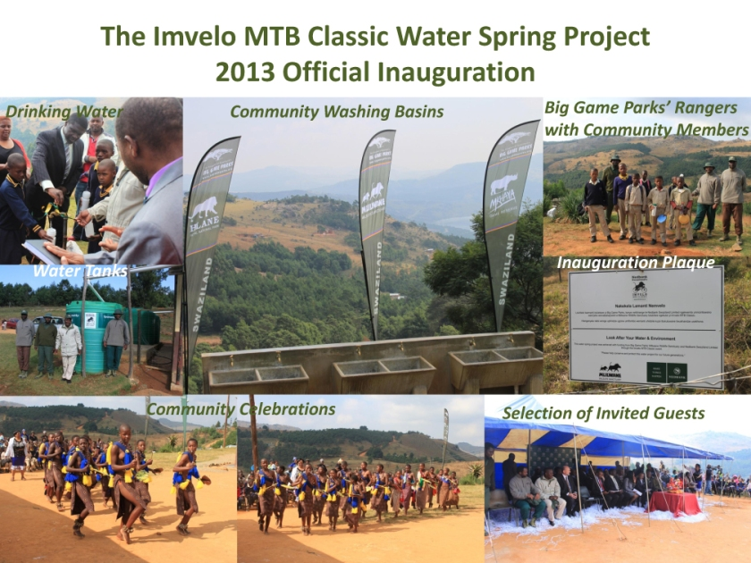 The Imvelo MTB Classic Water Spring Project Official Inauguratio
